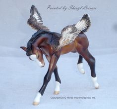 "pegasus horse | ... CM Breyer Horse Classic Foal ""Baby"" Bay Pegasus by Sheryl Leisure LSQ"