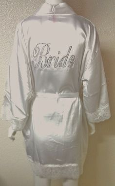 Bride Robe. Bridesmaid. Bachelorette Party. Maid of Honor. Matron of Honor. Wedding Bridal Party. on Etsy, $41.00