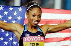 This girl better get gold! My favorite runner Allyson Felix