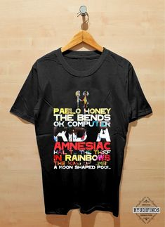 6436bf67 Radiohead Albums T Shirt Clothing Hypebeast Street Wear for Unisex