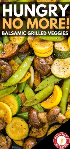 Feb 2020 - Balsamic Grilled Zucchini and Mushrooms is one of our favorite grilled vegetable recipes because it's so easy. This is even easier than Grilled Vegetable Skewers and takes just 10 minutes to prepare. Hungry no more, that is for sure! Grilled Vegetable Skewers, Grilled Vegetable Recipes, Grilled Veggies, Healthy Vegetables, Vegetarian Recipes, Healthy Recipes, Recipes With Vegetables Only, Healthy Green Vegetable Recipes, Seasoning For Vegetables