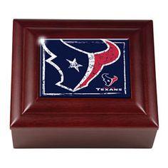 Houston Texans Wood Keepsake Box $26.99 http://www.fansedge.com/Houston-Texans-Wood-Keepsake-Box-_182681012_PD.html?social=pinterest_pfid50-39501