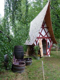 Hexenhäuschen Gartenhaus Geräteschuppen Spielhaus Kindertraum Sauna Ostergeschen