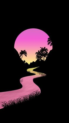 Palm trees wallpaper by Faithden - - Free on ZEDGE™ Minimal Wallpaper, Neon Wallpaper, Tree Wallpaper, Nature Wallpaper, Wallpaper Backgrounds, Cool Backgrounds For Iphone, Sunset Wallpaper, Mobile Wallpaper, You Are My Moon