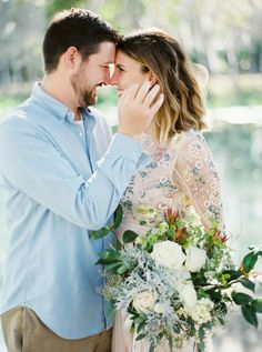 What's better than a sun-filled engagement? How about a sun-filled engagement complete with one of the most beautiful pink gown we've ever laid eyes on. Engagement Outfits, Engagement Session, Engagement Photos, Rock Springs Park, Teen Dating, Pink Gowns, Date Outfits, Style Guides, Hairdos
