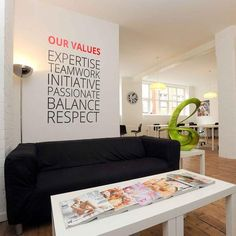 Company Values — Style 2 in Office by Vinyl Impression