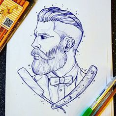 coolTop Tattoo Trends – Style of illustration; black Not blue… coolTop Tattoo Trends – Style of illustration; Logos Tattoo, Tattoo P, Beard Tattoo, Tattoo Drawings, Art Drawings, Hipster Drawings, Hipster Tattoo, Couple Drawings, Pencil Drawings