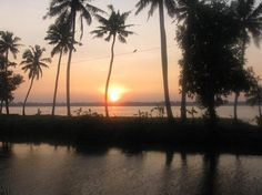 A Sunset Near a Backwater Village!!