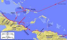 Columbus también exploró la costa noreste de Cuba, donde aterrizó el 28 de octubre. El fue en busca de una isla llamada Babeque porque tenia muchisimo oro.