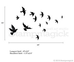 $18 10 birds 1.5x2.5 to 8x10 removable decals