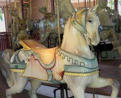 white horse/ Dentzel Carousel