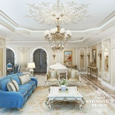 Элитный проект дома с элитной мебелью в классическом стиле от Лакшери Антонович Дизайн