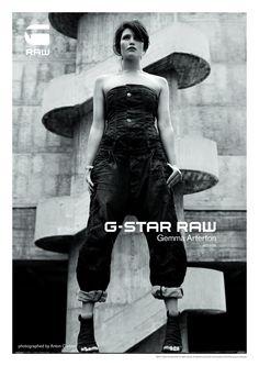 G Star S/S 2011 Gemma Arterton - Model Anton Corbijn - Photographer