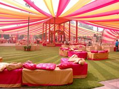 Find Simple Wedding Venue Decor Ideas Only With Colourful Fabrics By Wedfine