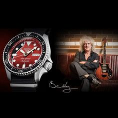 Seiko 5 Sports Brian May Red Special Limited Edition Brian May Red Special, Seiko 5 Sports, Michael Kors Watch, Clocks, Inspiration, Design, Fashion, Guitar Neck, Old Fireplace