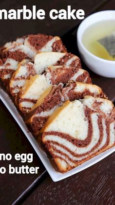 marble cake recipe, chocolate marble cake, eggless marble cake with step by step photo/video. an interesting fusion cake recipe by combining 2 cake batter Eggless Recipes, Eggless Baking, Easy Cake Recipes, Sweet Recipes, Baking Recipes, Snack Recipes, Eggless Bread Pudding Recipe Easy, Eggless Cake Recipe Video, Eggless Marble Cake Recipe