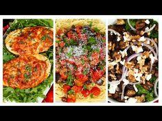 Eggplant 3 Ways (Eggplant Tomato Olive Pasta, Warm Mushroom Eggplant Balsamic Salad, Lasagna Stuffed Eggplant) - The Domestic Geek