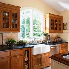 soapstone countertops, farmhouse sink