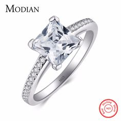 Cheap sterling silver wedding ring, Buy Quality wedding rings directly from China real 925 sterling silver Suppliers: 2017 MODIAN Engagement AAAAA Cubic Zircon Fashion Rings Real 925 sterling silver wedding ring bridal Jewelry for women jewelry sets, jewelry sets matching, jewelry sets fashion, jewelry sets simple, jewelry sets diy, jewelry sets & more #jewellery #jewelry #jewelrydesign #jewelrysets #fashiontrends #trends