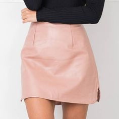 73e06ceece0f43 ... New Arrival OL PU Leather Skirts High Waist Sexy Vintage A Line Office  Skirts Womens Solid Mini Bodycon Skirt Plus Size-in Skirts from Women s  Clothing ...