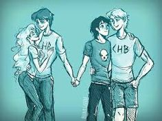 I think this picture means, Percy and Nico are still buds, but they have someone they love.