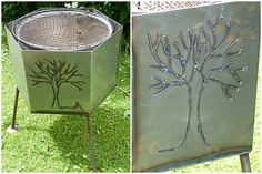 Grill z.T. aus Wäschetrommel / Grill partly made from old washer drum / Upcycling