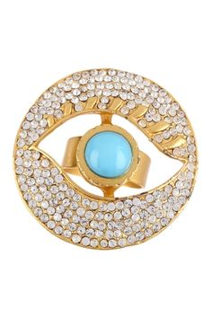 Bansri Evil Eye Pave Crystal Ring from HauteLook on shop.CatalogSpree.com, your personal digital mall.
