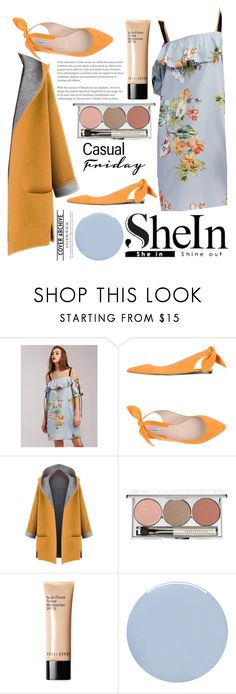 """220 SHEIN"" by erohina-d ❤ liked on Polyvore featuring Carven, WithChic, Chantecaille, Bobbi Brown Cosmetics and Deborah Lippmann"