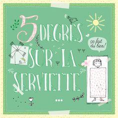 Let's Create Together: Cinq degrés sur la serviette... ça fait du bien!