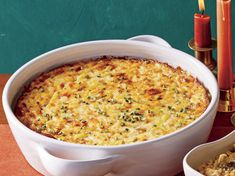 The Southern holiday sideboard isn't complete without a pan of cheesy and creamy corn pudding. This version, made with fontina or Swiss cheese, is more savory than sweet. If fresh corn isn't in season, you can use frozen corn. Drain the thawed corn … Corn Pudding Casserole, Corn Pudding Recipes, Casserole Recipes, Corn Recipes, Hamburger Casserole, Kraft Recipes, Chicken Casserole, Easy Recipes, Corn Pudding Southern