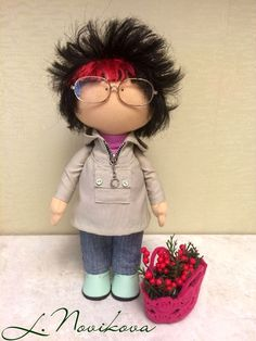 Diy Rag Dolls, Doll Hair, Soft Sculpture, Fabric Dolls, Little People, Doll Patterns, Beautiful Dolls, Puppets, Lana