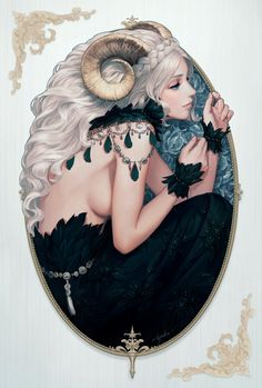 Aries Zodiac Sign Art, Artist: Ayaka Suda | #aries #zodiac #astrology
