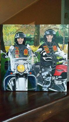 biker, motor, portret, Red Knights MC