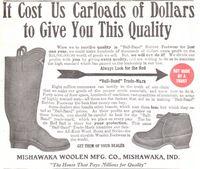 Mishawaka Ball-Band Rubber Footwear 1909 Ad Picture