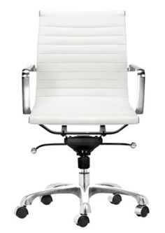 Amazon.com - Zuo Modern Lider Office Chair, White - Adjustable Home Desk Chairs