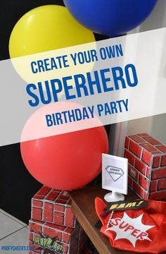 Create Your Own Superhero Birthday Party - kids color their own masks and capes!