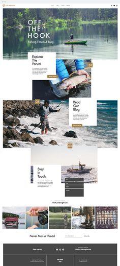Fishing Forum Website Template | Website Templates