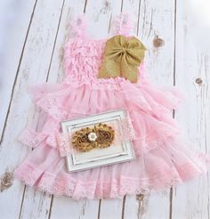 Pink and Gold First Birthday Outfit, Cake Smash Outfit Girls, Baby Girl 1st Birthday Outfit, Cake Smash Outfit, 1st Birthday Girl Outfit
