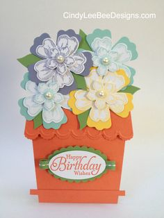SU Flower Shop, Petite Petals, Simply Sketched, punches  (Splitcoaststampers for pot)    April 11, 2014