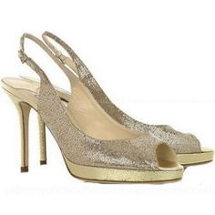 ▓☪ Jimmy Choo Nova Glitter Leather Peep Toes ,☃☂☞ #Christmas Shopping Ideas... ❤❤❤……