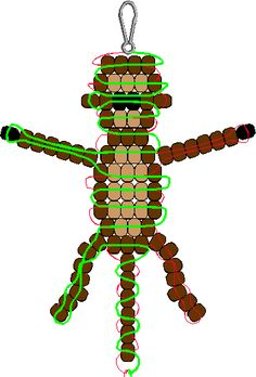 pony bead patterns | pony bead pattern everyone loves a monkey so weave up some pony beads ..