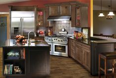 A kitchen rich in luxury and features.