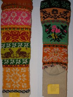 Muhu stockings, rabbits, flowers
