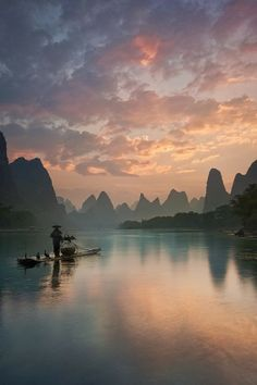 Sunrise on Li River, China