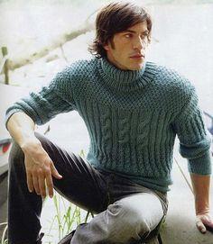 Cuello hecho a la orden mano de los hombres de aran suéter hecho punto suéter cardigan suéter cuello redondo los hombres ropa de punto hecha a mano de los hombres