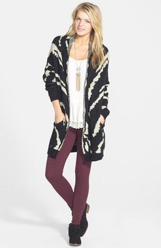 Woven Heart Cardigan, BP. Tank & Leggings  available at #Nordstrom