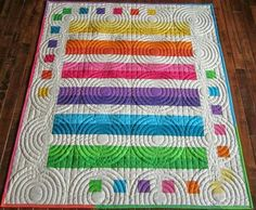 Nice and easy for a care quilt. Love the colors, design, and the amazing quilting. Sue Daurio's Quilting Adventures: Round and Round Jellyroll Quilts, Patchwork Quilting, Longarm Quilting, Free Motion Quilting, Hand Quilting, Strip Quilts, Easy Quilts, Mini Quilts, Quilt Blocks
