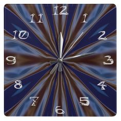 Kaleidoscope Fractal Abstract Liquid Energy Square Wallclock