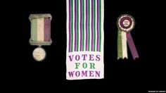 The WSPU encouraged members to wear purple, white and green at all times, particularly when attending large demonstrations. The pictures here are drawn from the biggest collection of artefacts and objects of the British militant suffragette movement, which is held by the Museum of London.