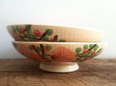 Vintage Hand Painted Japanese Bowls on Etsy, $32.00